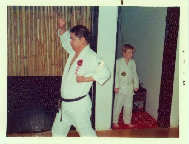 Ueshiro Sensei demonstrating basic moves