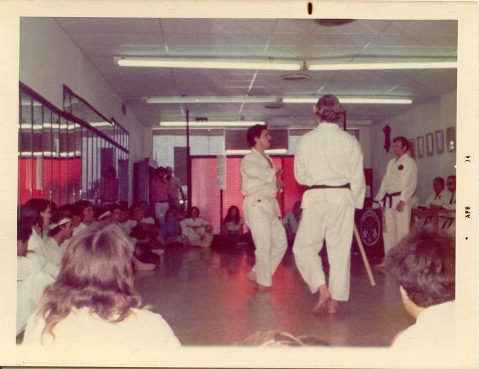 __ Graziano demonstrating Nunchaku techniques against ______ - Mar 74