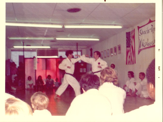 William Patterson Demonstrating YK-I with Palmer Sensei- Mar 74