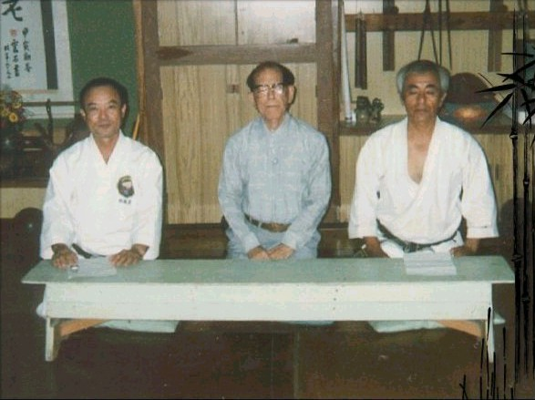 Makishi Sensei, Osensei & Tamaki Sensei