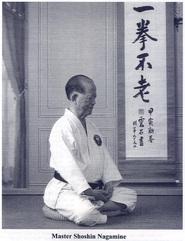 Osensei practicing zazen