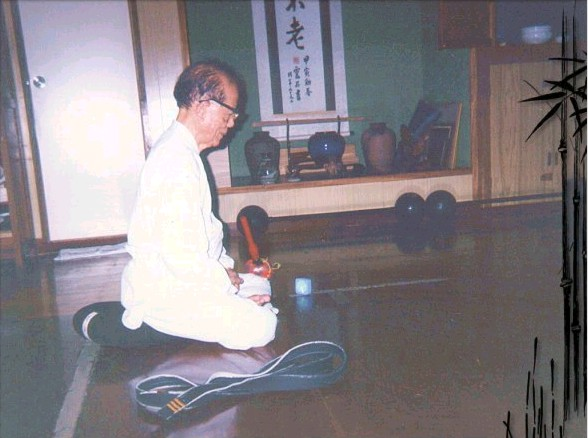 Osensei in Zazen Meditation