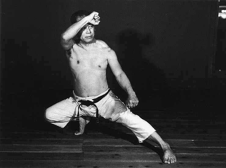 Younger Osensei performing a kata