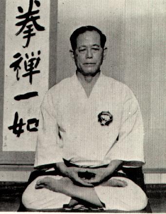 Osensei seated in Zazen Meditation