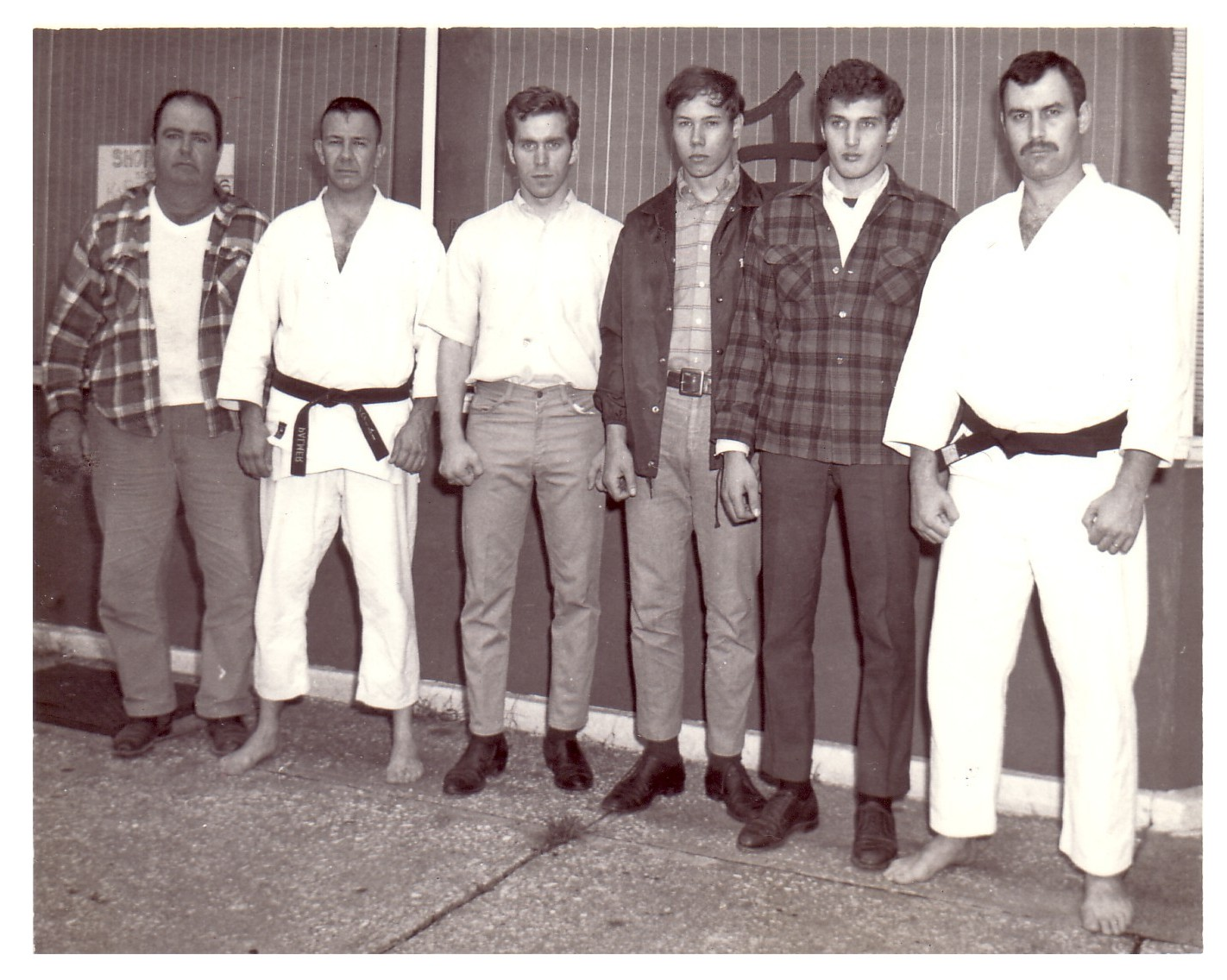 Renshi Sam Palmer,  Sensei Bud Shafer and other students